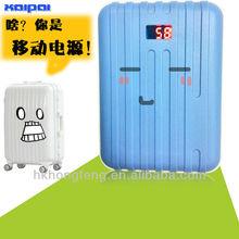 Wholesale luggage power bank/Dual usb luggage power bank