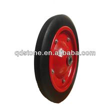 13*3 solid rubber wheelbarrow wheel made in Qingdao, 12 inch wheelbarrow tyre