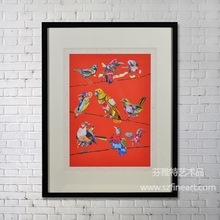 2014 new design pop art print on paper with competitive price