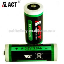 wireless security sensor battery 3.6V Li SOCI2 battery ER18505 4.0ah
