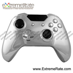 Customized Repair Part Kits Chorme Sliver Controller Shell For Xbox One Housing With Thumbstick Battery Cover Pack Start Bac