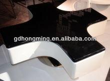 En forma de cruz mesa de café spinning 360 degree mesa de café mecanismo de mesa J285