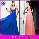 Latest Satin-Sash Chiffon Scoop Neckline Big Size Women Dress Evening Dresses 2014
