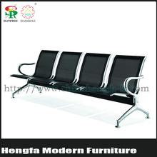 SUNRISE reclining modern high back gang steel used hospital waiting link chairs