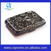 Fashion pattern portable aluminum rfid wallet with various style