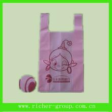 Print Design Plastic T-Shirt Retail Shopping Bags