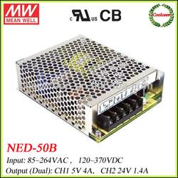 Meanwell switch mode power supply 5V 24V NED-50B