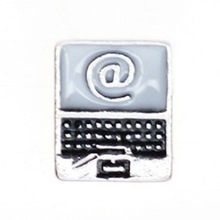 Promotion cheap laptop floating charms wholesale MFC093
