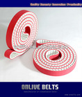 pu timing belts red coating