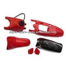 Red py50 PW fairing body kits with tank pw50 plastic kit