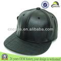 Snapback piel personalizado / sombrero piel/Snapback piel en blanco venta al por mayor