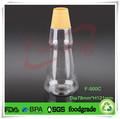 Vazio 500ml plástico chili molho de garrafa para a venda, pet frasco cônico para conter óleodecozinha com tampa