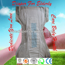 Disposable dry surface printed PE film wood pulp soft breathable absorbent cheap free samples of adult diapers