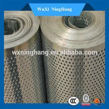 Low carbon steel perforated metal sheet