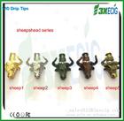 3X animal style metal bull drip tips 510 soldering tip
