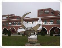 Western simple artwork school decoration steel sculpture