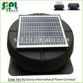 pulgadas 14 libre generador de energía solar de techo de escape del ventilador con motor de corriente continua