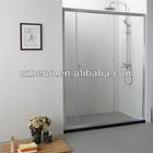 BN-352 Bath shower doors, stainless steel frame,sliding open,6/8mm tempered galss ,shower screen glass