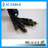 High quality best price 3rca to 3rca av cable with gold plug