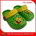 Carino bambini 2014 colore brillante scarpa giardino, ragazze eva intasare, eva scarpa estiva