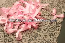 china factory pre made mini satin ribbon bow