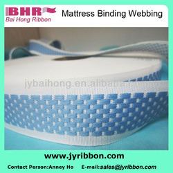 2014 Best Jacquard PP Polyester flat webbing for mattress cover 3.5cm 3.8cm 4.0cm
