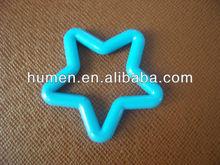 Fashion plastic PE pentagram shaped rings
