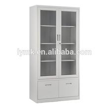 3 tiers glass door appliance steel filing cabinet