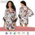100% de poliéster barato al por mayor de las mujeres de impresión ropas kimono& muñeca