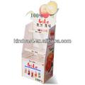 suco de laranja de papelão exposição de assoalho stand para a promoção