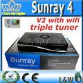 Sunray sr4 v2 sim. 2.20 linux carte décodeur hd soi sunray4 sr4 + wifi sunray 800 hd soi triple tuner. rev e v2 samsat décodeur