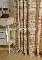 Fashion latest designs printed curtain