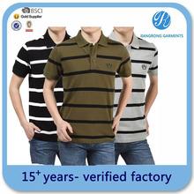 assorted color stripe mens t -shirt polo garment factory