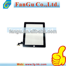 High quality cheap and fine Black color Touch Screen parts for ipad 2