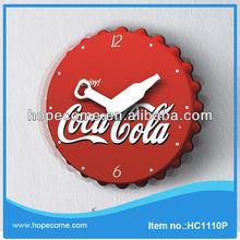 (HC1110P) 10 inch coco cola pendulum wall clock funny design