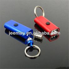 2014 new design aluminum led light keychain wholesale for promotion gift