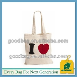 cotton canvas tote bag long handle MJ-CL-10125 guangzhou factory made in china .
