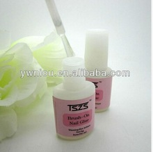 6g Professional nail art glue with brush plastic bottle