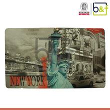 Custom design Statue of Liberty transfer printed rugs ad carpets
