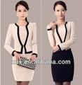 2014 mais recente estilo senhora elegante de design uniforme para o pessoal do escritório