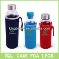 Mejor calidad vidrio de la bebida botella con paño manga