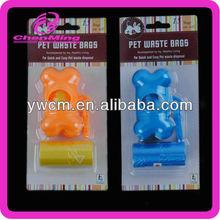 Custom plastic dog bag bone waste bag
