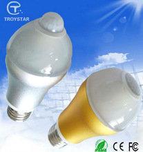 5w 6w E26 E27 B22 Base Bulbs with dark sensor PIR led motion sensor ceiling bulb light 3 years warranty