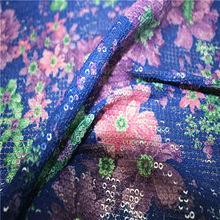 2015 Hot new products thick needle sequins tulle fabric