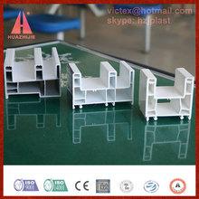 huazhijie vinyle plastic co extruded white PVC window and door profiles