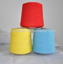 cotton yarn Ne20/2 Nm34/2 high twist colorful recycled cotton dyed high twist weaving twist yarn manufacturer