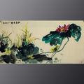 pittura quadri a olio di fiori da cinesi famoso artista