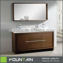 European Melamine Large Size Modern Bathroom Cabinet Design Veneer Smart Vanities Design
