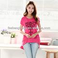 Ameixa maternidade roupas amamentar baby t- shirt top grávidas fato roupa materno estoque vestuário bk121