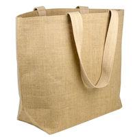"""elegantly designed jute tote bag 20"""" x 14"""" x 6"""" Burlap Beach Bag"""